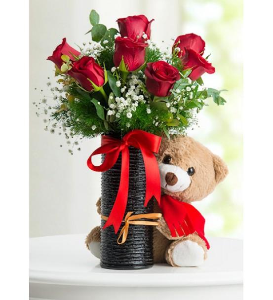 sevimli ayıcıklı romantik anlar