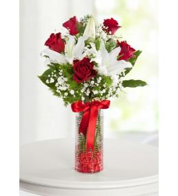 gözde güzel güller ve lilyumlar